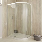 Sommer 6 Single Door Offset Quadrant Shower Enclosure 1200 x 800mm