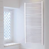 Essential Straight White 690 x 600mm Towel Warmer