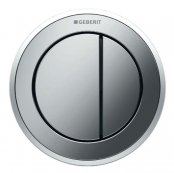 Geberit Type 10 Matt Chrome/Gloss Chrome Dual Flush Button For 12 and 15cm Concealed Cistern