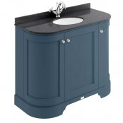 Bayswater Bathrooms Stiffkey Blue 1200mm 4 Door Curved Basin Unit