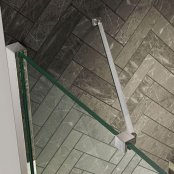 Kudos Ultimate 2 300mm Chrome Angled Glass to Wall Bracing Bar