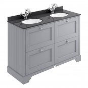 Bayswater 1200mm Plummett Grey 4 Drawer Basin Cabinet