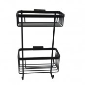 Roman Double Single Wall Basket Matt Black