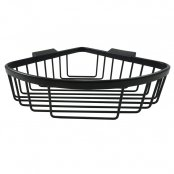 Roman Large Curved Corner Basket Matt Black