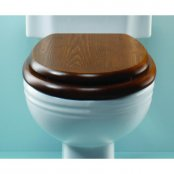 Silverdale Mahogany Chrome Hinge Toilet Seat Low Level (Stock Clearance)
