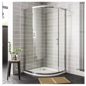 Spring 900 x 760mm Single Door Offset Quadrant Shower Enclosure