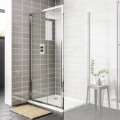 Spring 1100mm Sliding Door Shower Enclosure