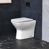Britton Shoreditch Square Rimless Back To Wall WC