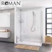 Roman Decem x 1200mm Hinged Door with Finger Pull Handle