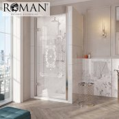 Roman Decem x 1400mm Victoriana Print Hinged Door with Finger Pull Handle