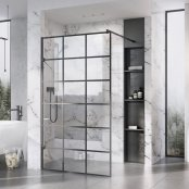 Roman Liberty 10mm 1057mm Black Grid Wetroom Corner Panel