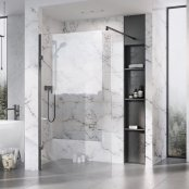 Roman Liberty 10mm 857mm Clear Glass Wetroom Corner Panel