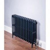 DQ Heating Cast Iron Hawkshaw 760 x 630mm 4 Column Anthracite Radiator