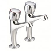 Just Taps Plus Astra High Rise Kitchen Sink Taps Pair - Chrome