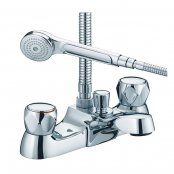 Just Taps Plus Astra Bath Shower Mixer Tap Deck Mounted - Chrome