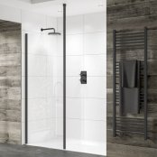 Sommer Evolve 8mm Glass Wetroom Panel 400mm (Black)