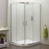 Sommer 6 Double Door Offset Quadrant Shower Enclosure 1200 x 900mm