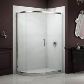 Sommer 8 Single Door Offset Quadrant Shower Enclosure 1200 x 800mm