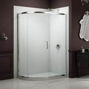 Sommer 8 Single Door Offset Quadrant Shower Enclosure 1200 x 900mm