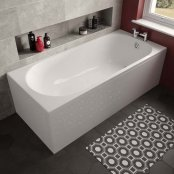 The White Space Arnold Single Ended Bath - 1500 x 700mm