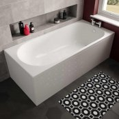 The White Space Arnold Single Ended Rectangular Bath - 1580mm X 680mm