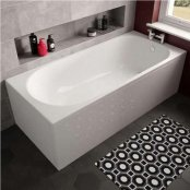 The White Space Arnold Single Ended Rectangular Bath - 1680mm X 750mm