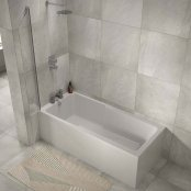 The White Space I-Bath Single Ended Shower Bath 1700mm x 750mm