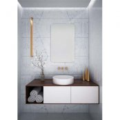 The White Space Kalm Bathroom Mirror - 500mm x  800mm