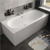 The White Space Magnus Double Ended Rectangular Bath - 1700mm X 750mm