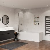 Coram Curved Bath Screen