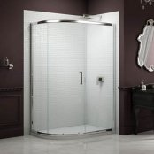 Sommer 8 Single Door Offset Quadrant Shower Enclosure 900 x 760mm