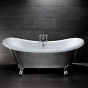 BC Designs Traditional Excelsior Alluminium Bath with Polished Feet