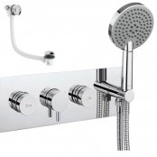 Crosswater Dial Valve 2 Control with Kai Lever Trim and Bath Filler