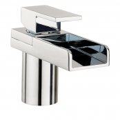 Crosswater Water Square Lights Monobloc Basin Mixer with Lights