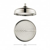 Crosswater Traditional Belgravia 300mm Nickel Shower Head
