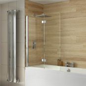 Dilusso .d007 6mm 2 Panel Square Top Bath Screen