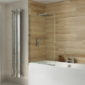 Dilusso .d008 8mm Square Top Fixed Panel Bath Screen