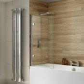 Dilusso .d010 10mm Square Top Bath Screen