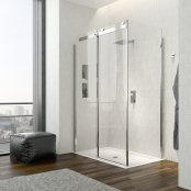 Dilusso .dTEN Sliding Door With a Side Panel