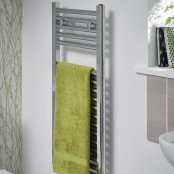 Essential Chrome Space Saving 1230 x 400mm Towel Warmer