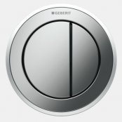 Geberit Type 10 Gloss Chrome/Matt Chrome Dual Flush Button For 8cm Concealed Cistern