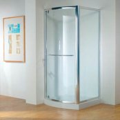 Kudos Original 900mm Bowed Pivot Door Shower Enclosure