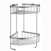 Smedbo Sideline Design Double Corner Soap Basket