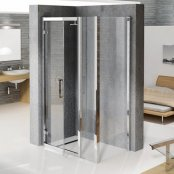 Novellini Kuadra G+F Extended Hinged Door Enclosure