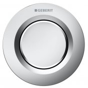 Geberit Pneumatic Matt Chrome Type 01 Single Flush, For 12 And 15cm Concealed Cistern
