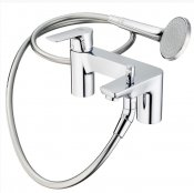 Ideal Standard Concept Air 2 Tap Hole Bath Shower Mixer, Single Lever