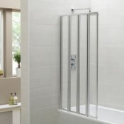 April Identiti Four Panel Folding Bath Screen