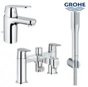 Grohe Eurosmart Pop-up Waste Basin Mixer with Bath/Shower Mixer