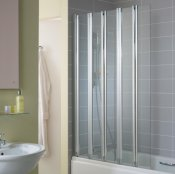 Ideal Standard New Connect 5-Panel Folding Bath Screen