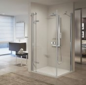 Novellini Gala G+F Frameless Hinged + Inline Shower Enclosure